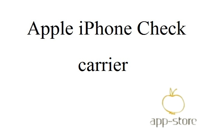 Check carrier iPhone